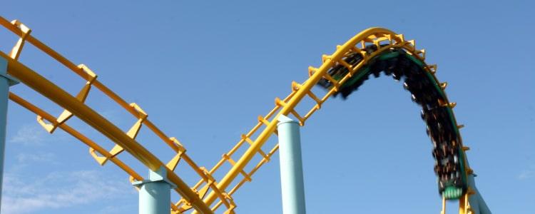 exhilerating ride at amusement park